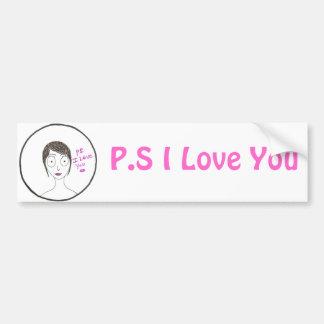 P.S. Te amo Pegatina Para Auto