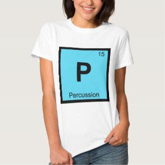 P - Símbolo de la tabla periódica de la química de Polera