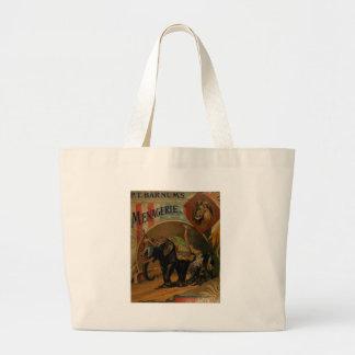 P.T. Barnum's menagerie Large Tote Bag