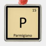 P - Tabla periódica de la química del queso del pa Ornamento Para Reyes Magos