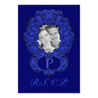 P - The Falck Alphabet (Blue) (Wedding) Card