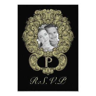 P - The Falck Alphabet (Golden) (Wedding) Card