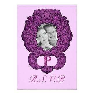 P - The Falck Alphabet (Pink) (Wedding) Card
