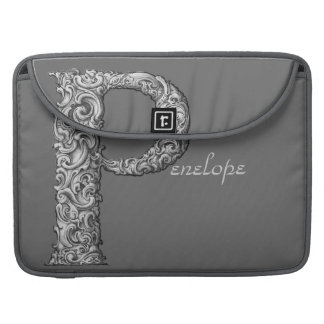 P - The Falck Alphabet (Silvery) Sleeve For MacBook Pro