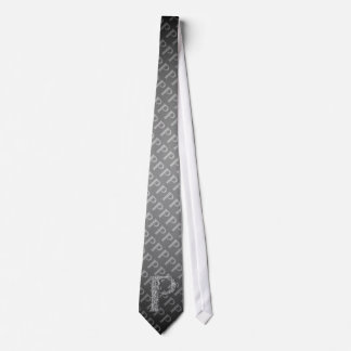 P - The Falck Alphabet (Silvery) Tie