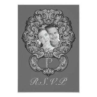 P - The Falck Alphabet (Silvery) (Wedding) Card