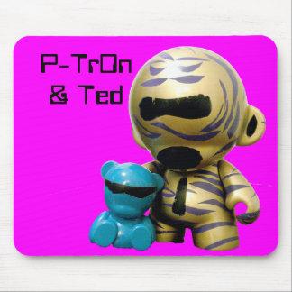 P-Tron-bearhug, P-Tr0n & Ted Mouse Pad