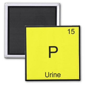 P - Urine Chemistry Element Symbol Funny Periodic 2 Inch Square Magnet