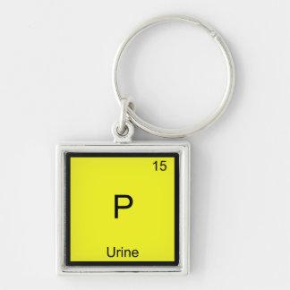 P - Urine Chemistry Element Symbol Funny Periodic Keychain