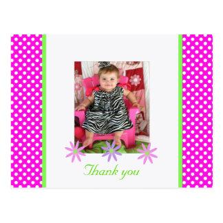 P & W Polka-dots: Picture: Thank You Postcard