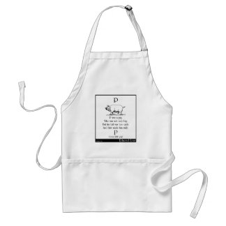 P was a pig adult apron