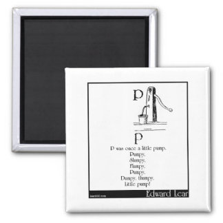 P was once a little pump 2 inch square magnet