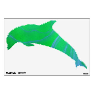 © P Wherrell Abstract Dolphin kids wall graphic