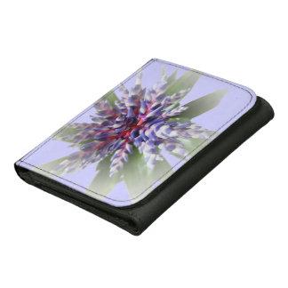 © P Wherrell Aechmea Blue Rain bromeliad flower Leather Trifold Wallets