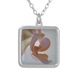 © P Wherrell Angelic pink and yellow orchid photo Personalized Necklace