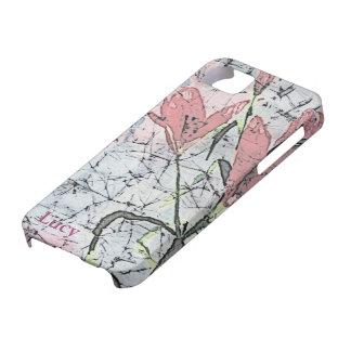 © P Wherrell Batik lilies in pink stylish trendy iPhone 5 Case