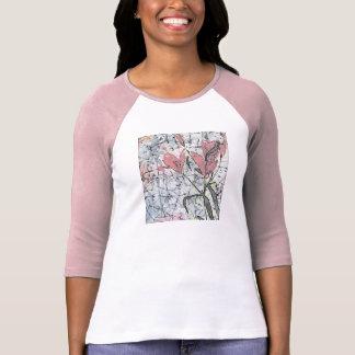 © P Wherrell Batik lilies in pink stylish trendy T Shirts