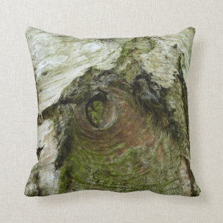 © P Wherrell Bird of bark unusual  tree trunk Throw Pillow