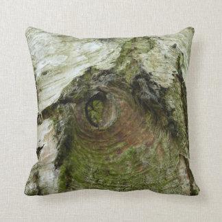 © P Wherrell Bird of bark unusual  tree trunk Throw Pillow