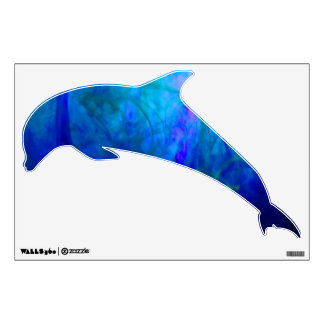 © P Wherrell Blue dolphin kids wall graphic