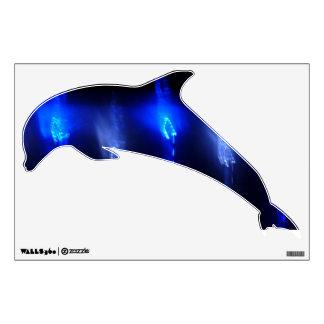 © P Wherrell Blue lights dolpin kids wall graphic