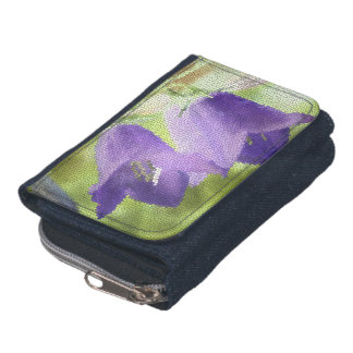 © P Wherrell Canterbury bells stained glass effect Wallet