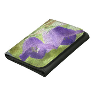 © P Wherrell Canterbury bells stained glass effect Trifold Wallet