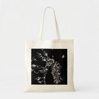 © P Wherrell Contemporary black and white peacock Tote Bag