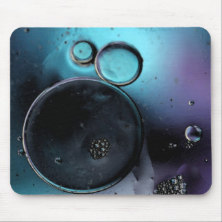 © P Wherrell Contemporary blue circles abstract Mouse Pads
