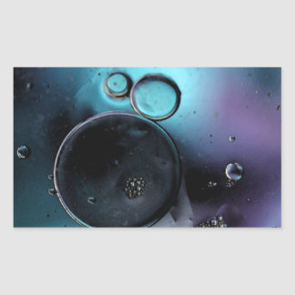 © P Wherrell Contemporary blue circles abstract Rectangle Sticker