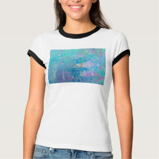 © P Wherrell Contemporary digital art dolphins T-Shirt