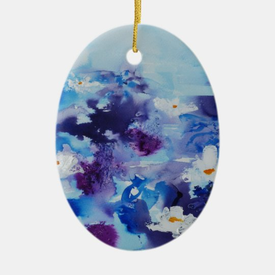 © P Wherrell Contemporary fine art waterlilies Ceramic Ornament