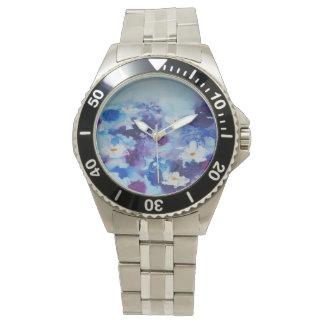 © P Wherrell Contemporary fine art waterlilies Wristwatch