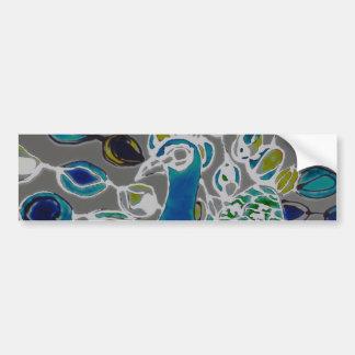 © P Wherrell Contemporary impressionist peacock Bumper Stickers