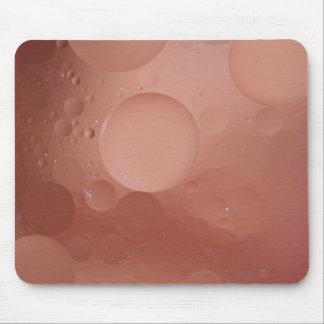 © P Wherrell Contemporary salmon circles abstract Mousepad