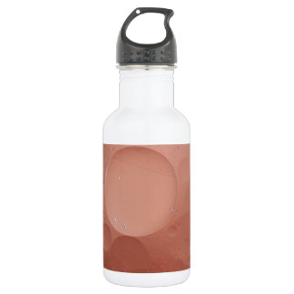 © P Wherrell Contemporary salmon circles abstract Water Bottle
