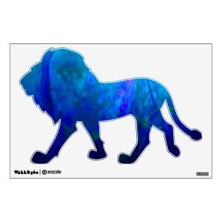 ©  P Wherrell Cute blue lion kids wall graphic
