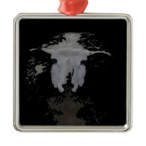 © P Wherrell Cute lovable impressionist sheep Metal Ornament