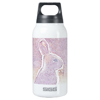 © P Wherrell Cute rabbit Easter bunny digital Insulated Water Bottle