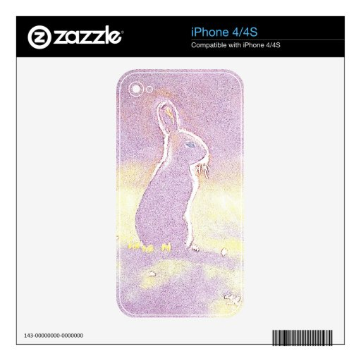 © P Wherrell Cute rabbit Easter bunny digital Decals For The iPhone 4S