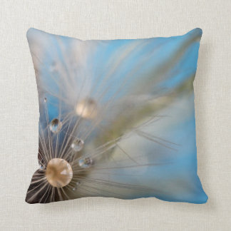 © P Wherrell Dandelion seeds water droplets Throw Pillow