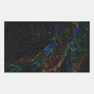 © P Wherrell Digital fine art peacock abstract Rectangular Sticker