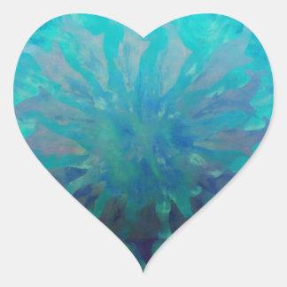 © P Wherrell Dolphin circle digital painting Heart Sticker