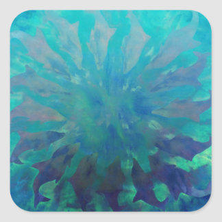 © P Wherrell Dolphin circle digital painting Square Sticker