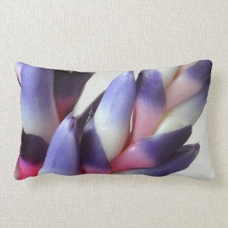 © P Wherrell Exotic aechmea bromeliad flower Lumbar Pillow
