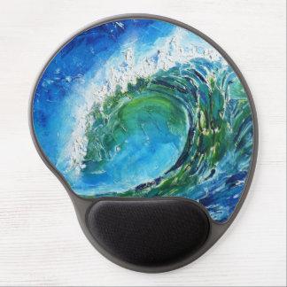 © P Wherrell Fine art oil painting wave ocean sea Gel Mouse Pad