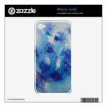 © P Wherrell Fine art painting blue irises Skins For The iPhone 4S