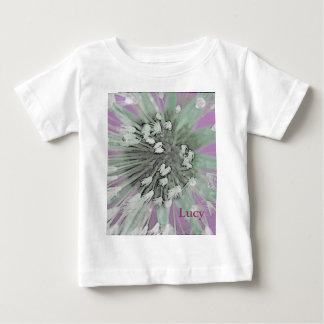 © P Wherrell  Fine art pink trendy dandelion seeds Baby T-Shirt