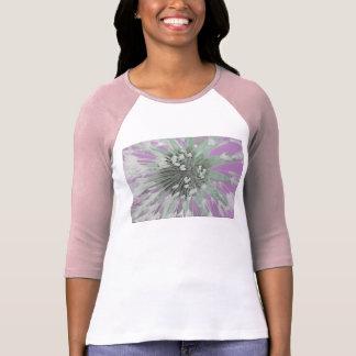 © P Wherrell  Fine art pink trendy dandelion seeds Tshirts