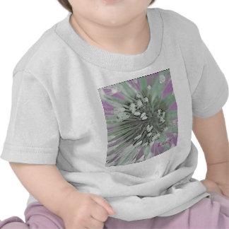 © P Wherrell  Fine art pink trendy dandelion seeds Tee Shirts